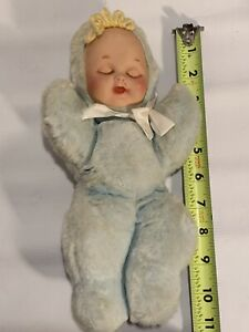 Vintage-Swisstone-Musical-Baby-Doll-Switzerland-Works