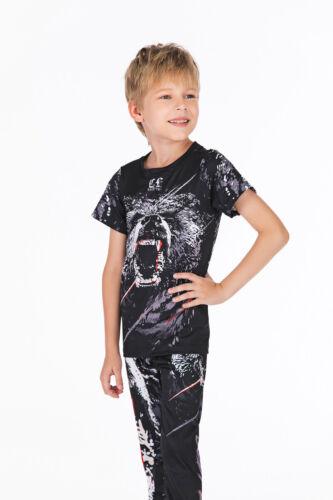 Children Dri Fit Rash Guard Boy Long Spats Kids Pants BJJ Wear Combat Gear