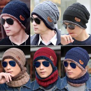 2f51f6cf673 Men Women Adult Winter Wool Knit Crochet Ski Beanie Hat Winter ...