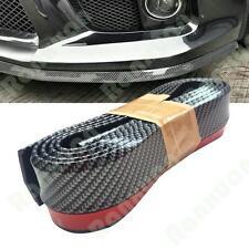 """100""""Universal Carbon Fiber Front Bumper Lip Splitter Chin Spoiler Body Kit Trim"""