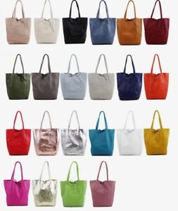2325f2d16668 Image is loading Soft-Italian-Real-Leather-Ladies-Leather-Shopper-Bags-