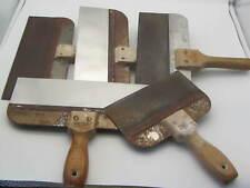 Lot Of 5 Taping Knife Filling Drywall Plastering Finishing Spatulas 4 12 Amp 8