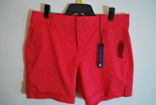 NEW Gloria Vanderbilt Ladies' Celina Twill Comfort Waist Shorts - Dragon Fruit