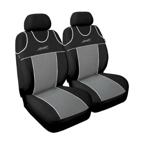 Universal Autositzbezüge für Peugeot 208 Grau Sitzbezüge Schonbezüge Stylus P2