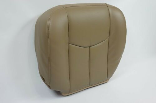 2003 2004 2005-6 GMC Sierra 1500 2500 3500 HD-SLT Bottom LEATHER Seat Cover TAN