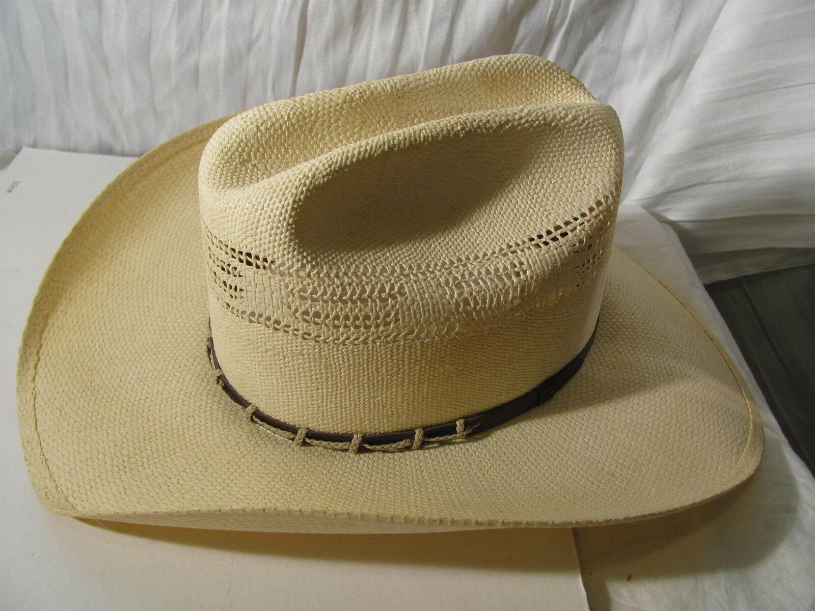 vintage Stetson 7 cowboy hat Bancora size 7 Stetson excellent long oval 528b5a