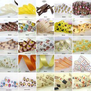 25x1Yard-Assorted-Satin-Grosgrain-Ribbon-Lot-3-8-034-1-5-034-Yellow-Theme-Craft-Bow-B