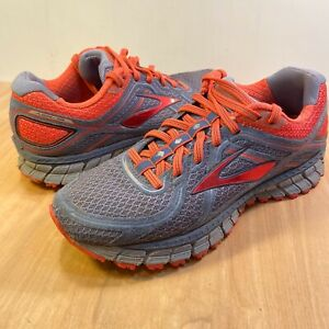 B Grey / Coral Lace-up Running Shoes