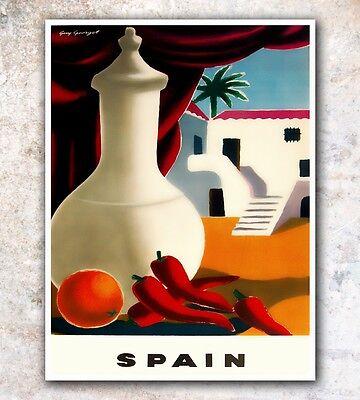 "Spain Art Travel Poster Wall Decor Print 12x16"" A422"