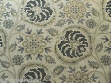 Sanderson Curtain Upholstery Fabric SAMARKAND 3.3m Linen/Charcoal Weave Design