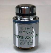 Zeiss Plan Apochromat 63x14 Oil Ph3 Microscope Objective
