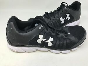 NEW-Under-Armour-Men-039-s-Micro-G-Assert-Running-Shoes-Blk-Wht-1266224-141KLM-mz