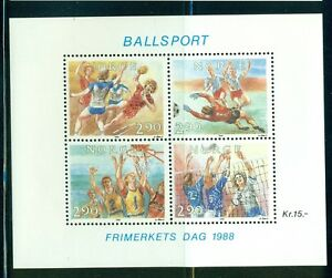 Norway-1988-Ball-Sports-sheet-Scott-934-VFMNH-CV-12-00