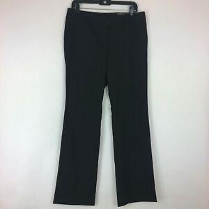 Ann Taylor Factory Womens Modern Fit Wide Leg Trouser Dress Pants Black Size 8