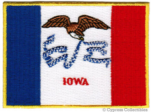 IOWA STATE FLAG embroidered iron-on PATCH EMBLEM IA shoulder applique