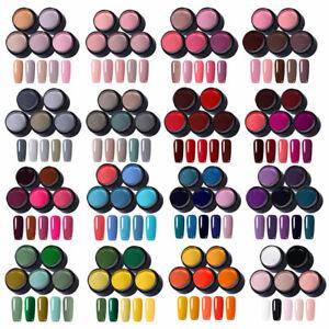 LEMOOC-5-Farben-set-UV-Gel-Nagellack-Glitzer-Rosa-Rot-UV-LED-Gel-Lacke-Kit