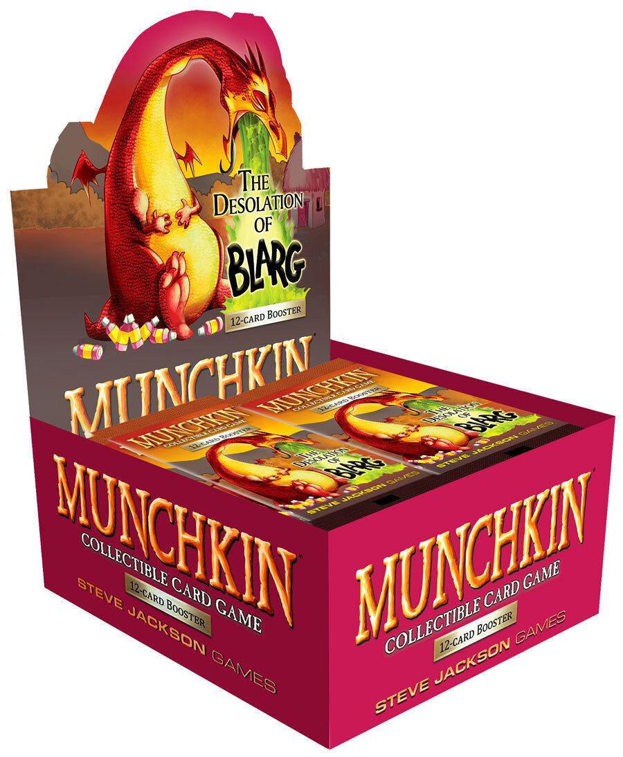 Munchkin CCG  Desolazione di Blarg BOOSTER BOX (24 CONFEZIONI) Gioco da tavolo