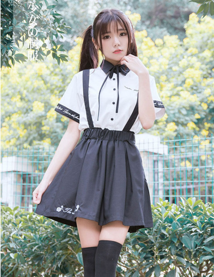 Lolita Sweet Girls Summer Dress School Uniform The Mistress Outfits White Shirt