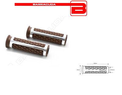 Realistico Barracuda Manopole Classic Argento Marrone Triumph Scrambler - Speed 94 / Four