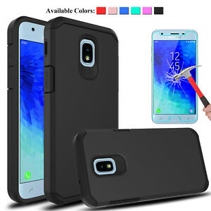 For-Samsung-Galaxy-J3-V-2018-Achieve-Orbit-Star-Case-Cover-With-Screen-Protector