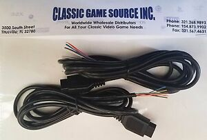 TWO 6FT 9 Pin Replacement cable wire repair Atari 2600 controller ...
