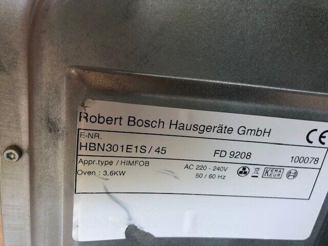 Indbygningsovn, Bosch HBN301E1S