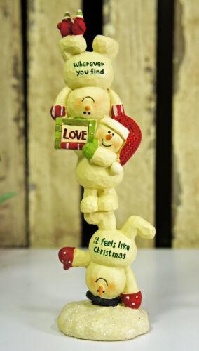 Resin Snowmen Figurines Ornament Seasonal Decoration Love Christmas Sculptures