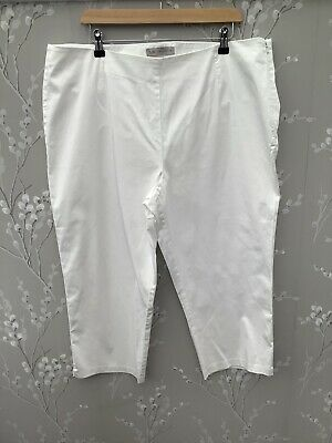 MARKS AND SPENCER Ladies Cotton Striped Chinos Pale Pink Blue White M/&S Trousers