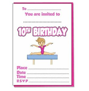 Girl Gymnastics Personalised 9th Birthday Banner x 2 Party Decorations ANY NAME