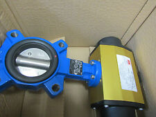 Double Acting Pneumatic Actuated Butterfly Valve Nitrile Liner, 2-1/2in  7998828