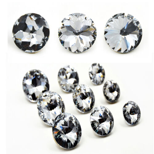50Pcs Crystal Rhinestone Diamond Buttons Tufting Sofa Upholstery Headboard Decor