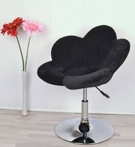 Black Dressing Table Chair Stool Adjustable Height Club