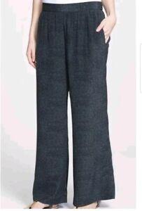 Sz Pantalon en graphite M imprimée gris 100 soie 278 Eileen 00 large détail Fisher z5qRwWB6