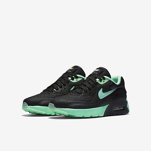 GS Nike Air Max 90 Ultra Se Running Black Green Glow Pure Platinum ... e32060810