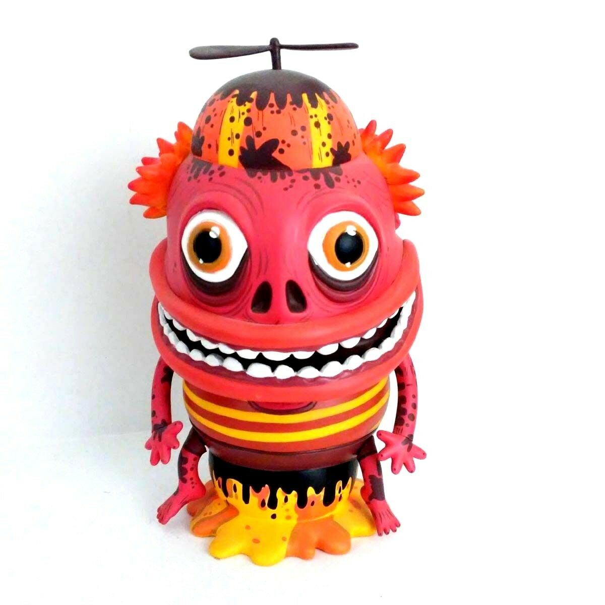 The Maniac Red orange by Skwak and Mindstyle 7.5  Vinyl Art Toy Figurine