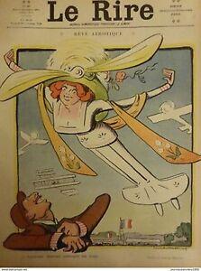 1910-Air-Drawing-Lucien-Metivet-Dream-Aerotique-Contemplation-Turn-Woman