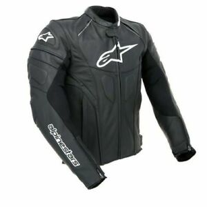 Alpinestars-GP-Plus-R-Black-Leather-Motorcycle-Motorbike-Jacket-was-390