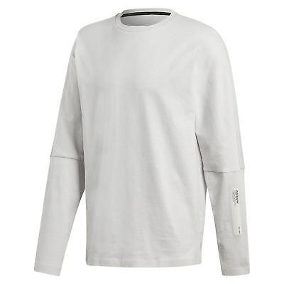 Adidas Original Nmd Langarm T Shirt Grau Top HERREN Baumwolle Rundhals Neu | eBay