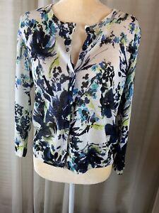 Jones New York 100% Linen Sweater, Floral Print
