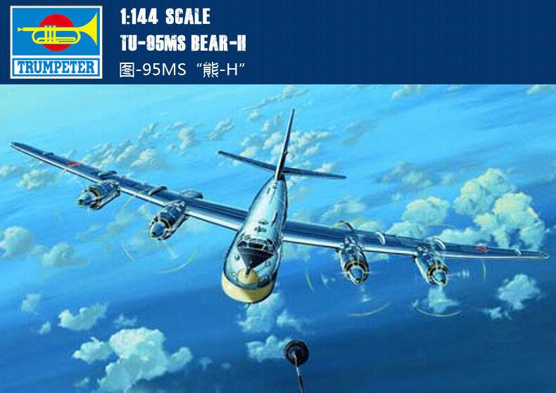 TU-95MS BEAR-H 1 144 aircraft Trumpeter model plane kit 03904