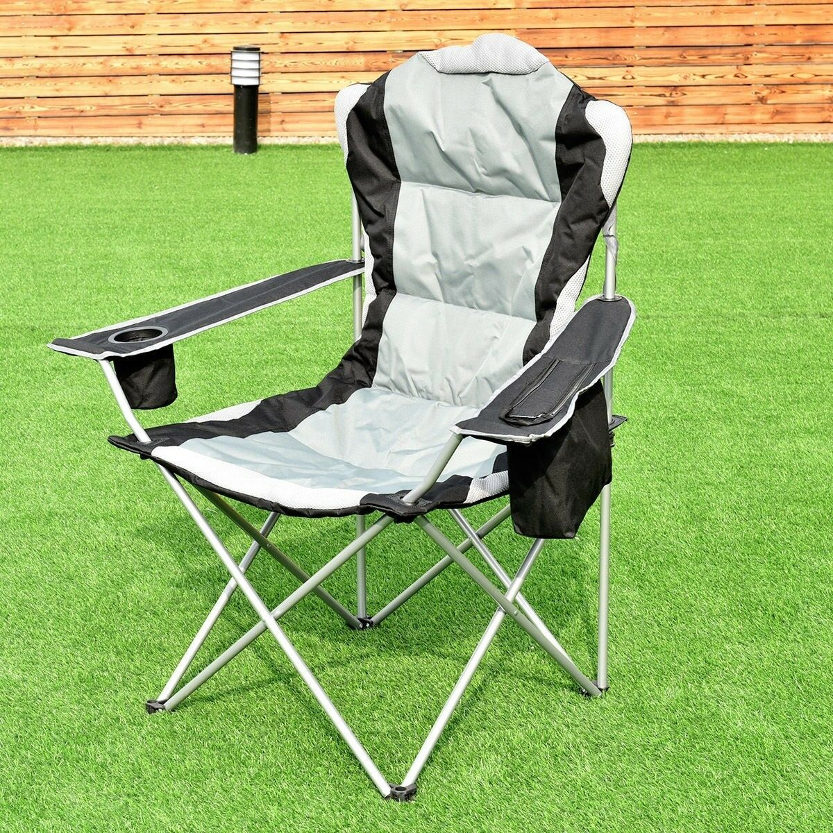 Portable Camping  Chair Seat Cup Holder Beach Picnic Outdoor Folding Chair & Bag  save up to 80%