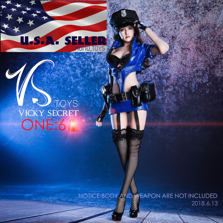1 6 Police Uniform Costumes Accessories Set For 12  PHICEN Female Figure ❶USA❶