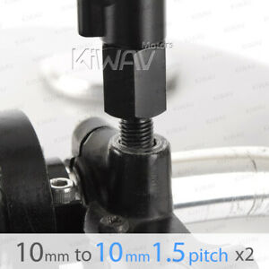 "black mirror adapter bolt screw 10mm metric female to 5//16/"" bolt fits Harley x1"