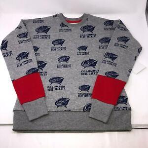 NHL-Jersey-Columbus-Blue-Jackets-Sweatshirt-Wrap-Around-Print-Youth-Medium