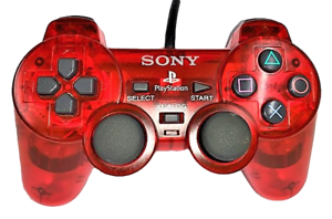 Clear Red Sony Playstation 2 PS2 Controller
