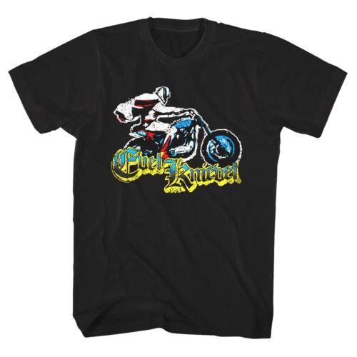 Evel Knievel Gothic Daredevil Stuntman Mens T Shirt Wheelie Bike Jump Motorcycle
