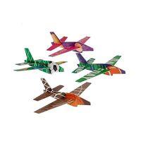 Lot Of 12 Assorted Sports Theme Styrofoam Jet Plane Gliders Free Shipping