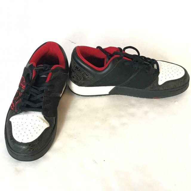 super popular e5b61 58ff4 Nike Air Jordan Mens Nu Retro I Sneakers Low Black Fire Red Bred 317105-061  8.5