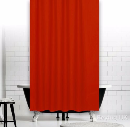 Bespoke Size Bathroom Fabric Shower Curtain 90cm Wide x 190cm Drop Narrow Width