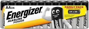Piles AA LR6 ENERGIZER Alkaline Power Pack de 24 Piles AA LR6 Batteries Neuf FR